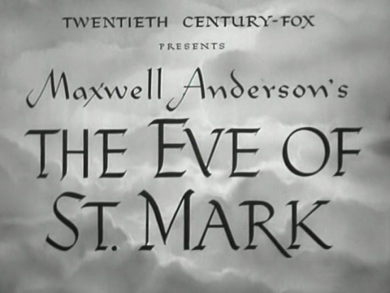 The Eve of St Mark