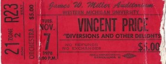 Ticket Stub from 1978, when the play performed at the West Michigan Theatre