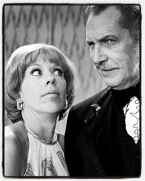 Vincent Price and Carol Burnett